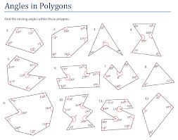 exterior angles worksheets geometry. angles and polygons exterior worksheets geometry l