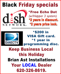 black friday specials on dish network and directv at brian ast installations