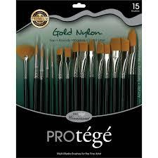artis brushes gold. gold nylon brush 15 piece set. ;  artis brushes