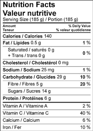 image of the nutrition facts table for halo halo