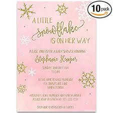 Snowflake Baby Shower Invitations Amazon Com Little Snowflake Baby Shower Girl Baby Shower