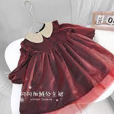 Đầm Công Chúa Phối Nhung Thời Trang Mùa Đông 2020 Cho Bé Gái tại Nước ngoài