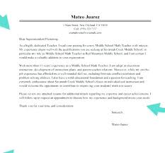 Teaching Cover Letter Middle School Best Ideas Of Teacher Cover