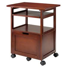 heavy duty printer stand com winsome wood piper work cart printer stand with key board kitchen dining