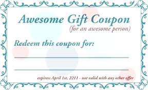 I Owe You Coupon Template This Page Contains Free And Editable