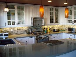kitchen idea furniture awesome ikea small kitchen design with white cabinet orange pendant light and granite