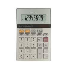 sharp calculator. sharp silver semi desktop calculator, 8 digit display - el-330er calculator