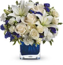 order teleflora s sapphire skies bouquet from berry s flowers inc your local louisville florist send teleflora s sapphire skies bouquet teleflora s