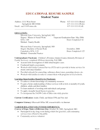 Resume Social Amazing Social Services Examples Livecareer