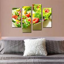 2018 canvas art wall art painting salad with various vegetable and fruit picture print on canvas food for home living room decor unframe from
