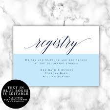 Wedding Enclosure Card Template Gift Registry Card Template Wedding Enclosure Card Template Registry
