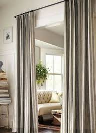 Curtain Ideas: Hanging curtains instead of closet doors