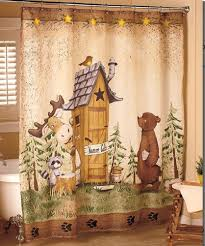 country bathroom shower curtain star accessories