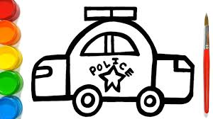 Free Coloring Pages For Kids Police Car Images Printable Custom