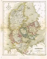 Denmark C 1850 Before Prussia Preußen Seized Schleswig