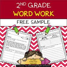 Activities Word 2nd Grade Word Work Activities Weekly Free Sample Tpt