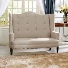 breakfast banquette furniture. Banquette Bench: Adding Coziness And Warmth To Your Kitchen: Chic Tufted Beige Linen Breakfast Furniture N