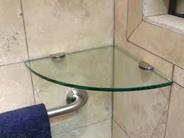 glass shower shelves for tile glass shower shelf curved bathrooms are us corner glass shower shelves
