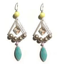 ite and swarovski pearl silver earrings