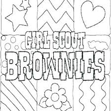 Brownie Girl Scout Coloring Pages Boy Scout Coloring Pages Free