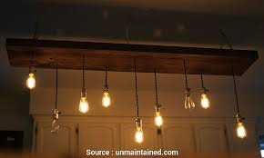 wire wood pendant light diy reclaimed lumber hanging edison bulb chandelier unmaintained wire wood pendant