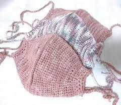 マスク 編み 図