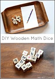 Wooden Math Games DIY Wooden Maths Dice The Imagination Tree 23