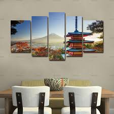 home paintings on modern canvas painting wall art with canvas painting wall art chureito pagoda 5 pieces modern in autumn