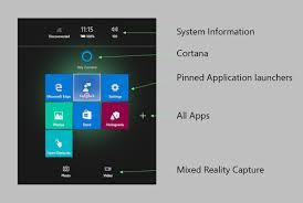 Microsoft Menu Navigating The Windows Mixed Reality Home Mixed Reality