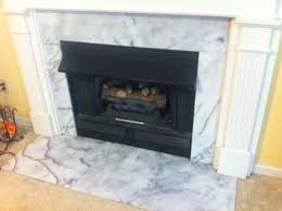 replacing marble hearth and surround on fireplace
