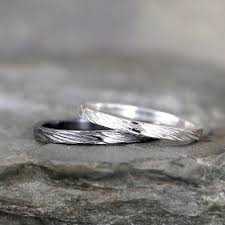 Bark Design Wedding Ring 2mm Hammered Bark Texture Wedding Band Sterling Silver