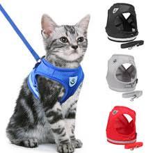 Светоотражающая <b>шлейка и поводок</b> для кошек, нейлоновая ...