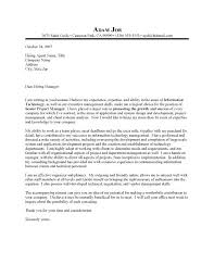 Cover Letter Project Manager Cover Letter For Project Manager