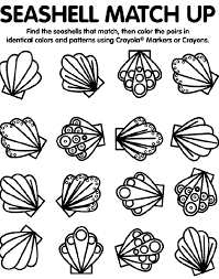 Small Picture sea shells coloring pages adults Sea Shell Match Up crayola