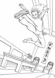 Kleurplaat Kung Fu Afb 11953