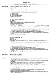 Sample Resume For Electronics Technician Electronic Technician Resume Samples Velvet Jobs