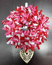 valentine wreaths for your front doorTry This DIY Valentines Day Fabric Door Wreath