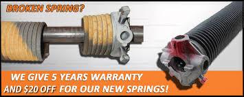 garage door spring brokeBroken Springs Repair  Garage Door Repair Apple Valley