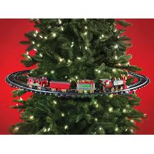 the in tree christmas train hammacher schlemmer with regard to christmas tree trains 3270
