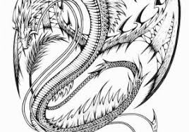 Coloring Pages Of Real Dragons Realistic Dragon Coloring Pages