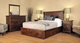 l rustic master bedroom furniture remodeling ideas showing reclaimed wood queen bed frames with storage side three drawers and stunning large drum shades brilliant log wood bedroom