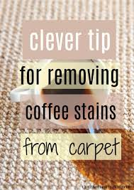 Like many of us, it helps me wake up and get through my endless list of tasks. Clever Tips For Removing Coffee Stains From Carpet My Favorite Carpet Cleaning Hack Coffee Stain Removal Cleaning Hacks Vinegar Cleaning