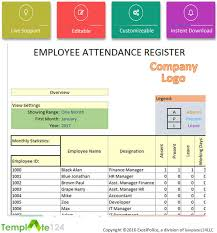 attendance spreadsheet excel daily employee attendance sheet in excel 2017 template124