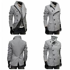 mens futuristic side on slim fit middle long