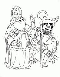 Kleurplaat Zwaaiende Sinterklaas En Zwarte Piet Sinterklaas Idee