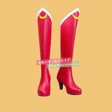New Anime Sailor Moon Cosplay Shoes Girls Knee Length <b>PU</b> ...