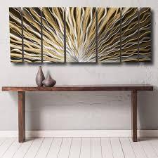 aurora torchiere series x modern abstract metal wall art