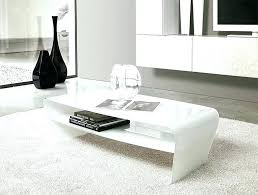 white gloss coffee table high