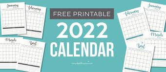 Select your favourite layout from our collection of monthly calendar templates. Free 2022 Printable Calendar Template 2 Colors I Heart Naptime