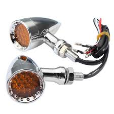 Bullet Led Lights Motorcycle Bullet Led Turn Signal Indicator Lights Chrome Edge Cut Universal